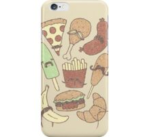 FOOD...WITH MUSTACHES, YAY!!! iPhone Case/Skin