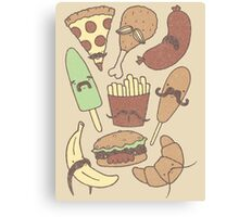 FOOD...WITH MUSTACHES, YAY!!! Canvas Print