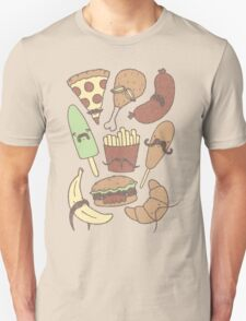 FOOD...WITH MUSTACHES, YAY!!! T-Shirt