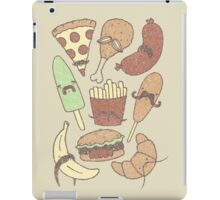 FOOD...WITH MUSTACHES, YAY!!! iPad Case/Skin