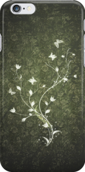 Floral vintage [green] by Dominika Aniola