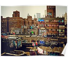 Urban Layer Cake - Chinatown Rooftop Graffiti - NYC Poster