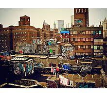 Urban Layer Cake - Chinatown Rooftop Graffiti - NYC Photographic Print