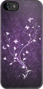 Floral vintage [violet] by Dominika Aniola