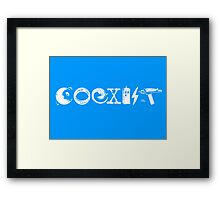 COEXIST - Let the Worlds of Nerdom Unite! Framed Print
