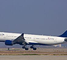 Delta Commercial Jet Landing by Buckwhite