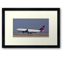 Delta Commercial Jet Landing Framed Print
