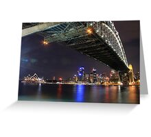 Sydney Harbour Bridge and Opera House at night  Greeting Card
