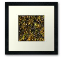 Green and Yellow Marble Framed Print
