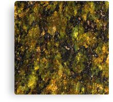 Green and Yellow Marble Canvas Print