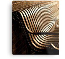 City Bench, Sepia Tone Metal Print