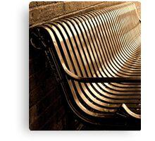 City Bench, Sepia Tone Canvas Print