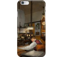 Steampunk - RR - The train dispatcher iPhone Case/Skin