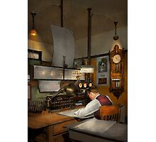Steampunk - RR - The train dispatcher Photographic Print