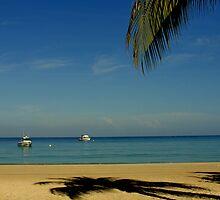 Peaceful Jamaican Beach by Bruce Moore