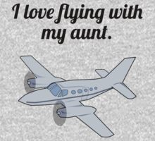 I Love Flying With My Aunt One Piece - Short Sleeve