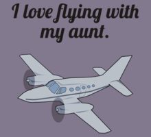 I Love Flying With My Aunt Kids Tee