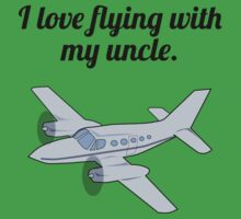 I Love Flying With My Uncle Kids Tee