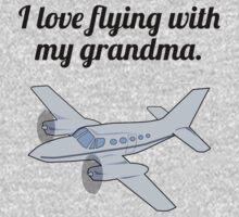 I Love Flying With My Grandma Baby Tee