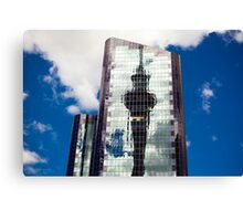 Sky Tower Reflection Canvas Print