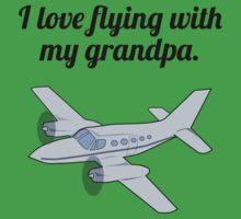 I Love Flying With My Grandpa Kids Tee