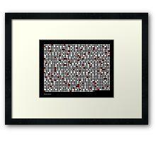 Morse Code Genesis Framed Print