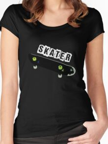 IM A SKATER Women's Fitted Scoop T-Shirt