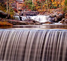 Glade Creek Grist Mill in Autumn and Waterfalls,Vertical by KellyHeaton