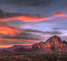 Sedona Sunset Panorama by Eddie Yerkish