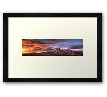 Sedona Sunset Panorama Framed Print