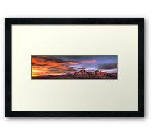 Sedona Sunset Panorama Framed Print