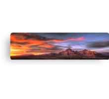 Sedona Sunset Panorama Canvas Print