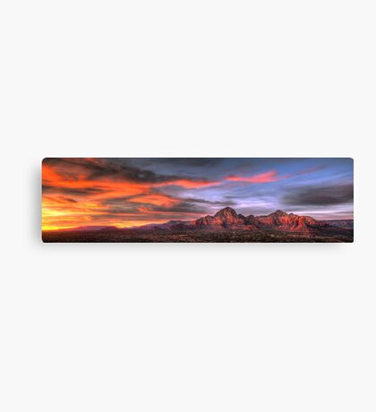 Sedona Sunset Panorama Canvas Print