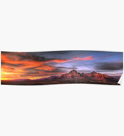 Sedona Sunset Panorama Poster