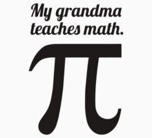 My Grandma Teaches Math Baby Tee