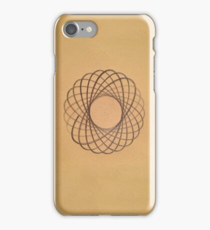 Spirograph on old paper iPhone Case/Skin