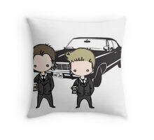 Supernatural Cartoon Dean & Sam Throw Pillow