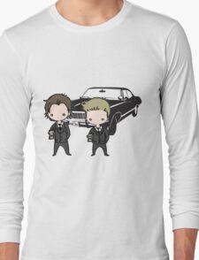 Supernatural Cartoon Dean & Sam Long Sleeve T-Shirt