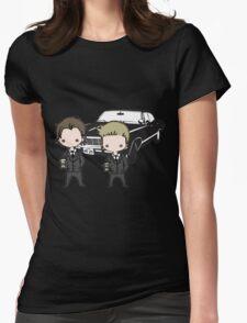 Supernatural Cartoon Dean & Sam Womens Fitted T-Shirt