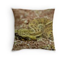 side view of a death adder Throw Pillow