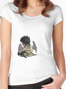 Supernatural - Castiel free hugs Women's Fitted Scoop T-Shirt