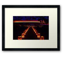 Holiday Liminaries Framed Print