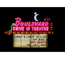 Boulevard Drive In Theatre, Kansas City, KS Photographic Print