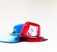 Red and blue melting together II by Juhana Tuomi