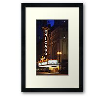 Chicago Theatre Evening, Chicago, IL Framed Print