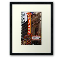 Chicago Theatre, Chicago, IL Framed Print
