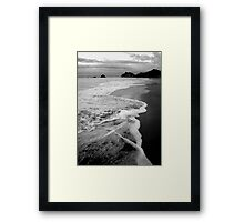 Haihei Black and White Framed Print