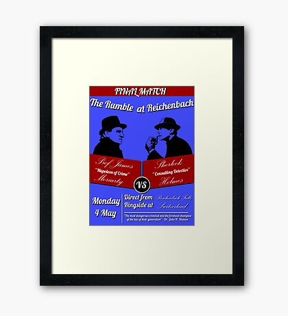 Rumble at Reichenbach (Poster) Framed Print