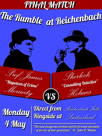 Rumble at Reichenbach (Poster) by Anglofile
