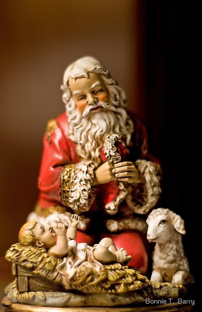 Kneeling Santa by Bonnie T.  Barry